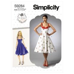 Kjole m/sweetheart-neckline Simplicity snitmønster 9284