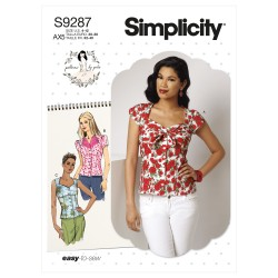 Bluse Simplicity snitmønster 9287