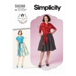 Nederdel og bluse Simplicity snitmønster 9288