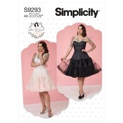 Skørt og underkjole Simplicity snitmønster 9293