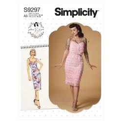 Charlestonkjole Simplicity snitmønster 9297