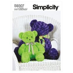 Teddybjørne Simplicity snitmønster 9307