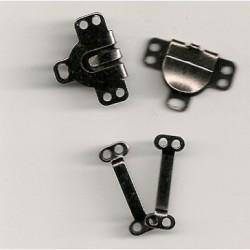 Buksehægter sølv og sort 9mm