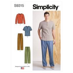 Herre T-shirt og bukser snitmønster Ssimplicity 9315