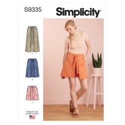 Nederdel og shorts snitmønster Simplicity 9335