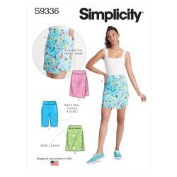 Shorts og nederdel snitmønster Simplicity 9336