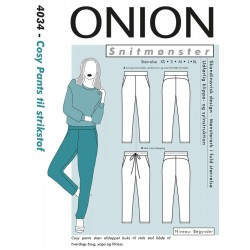 Cosy Pants til strikstof Onion snitmønster 9031
