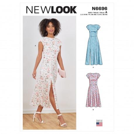 Kjole m/slids New look snitmønster 6696