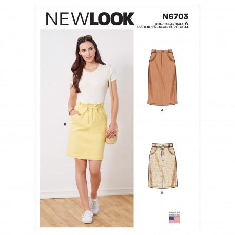 Smal nederdel New look snitmønster 6703