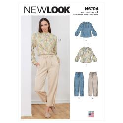 Bukser og bluse New look snitmønster 6704
