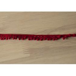 Hæklet bort m/Mini bonbon,15mm bred, Rød