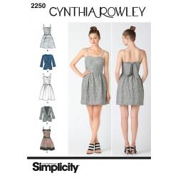 Kjole og jakke 3 varianter også plusmode snitmønster simplicity
