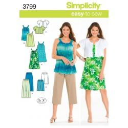 Sommersæt ,bukser, bluse og bukser snitmønster easy