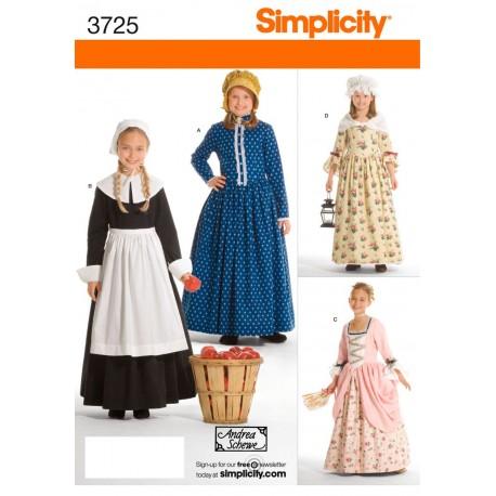 Kostume til piger, kammerpige ,køkkenpige