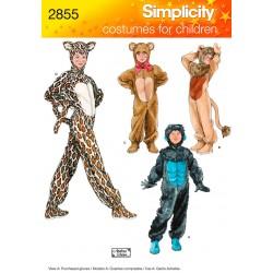 Heldragt, tiger og løve kostume snitmønster