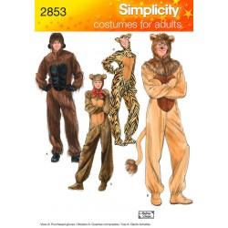 Heldragt, bjørn,løve og tiger, voksne kostume snitmønster