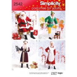 Julemanden og nissemor kostumer snitmønster