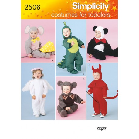 Mus,engel,panda, kostume til små folk snitmønster