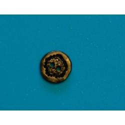 Knap 2-hul 15mm Bronzefarvet