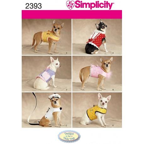 Tøj til små hunde snitmønster