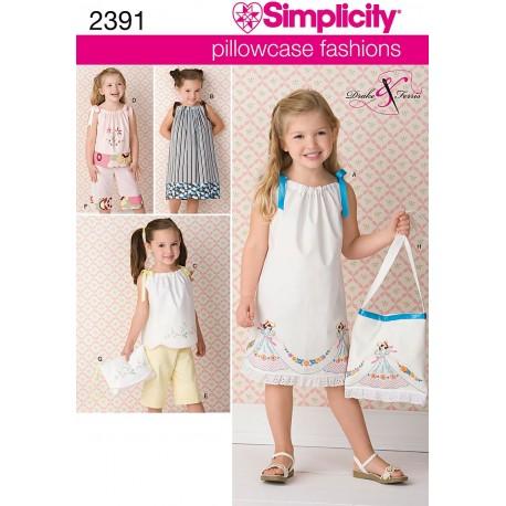 Sommerkjole og taske pigetøj snitmønster