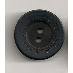 Mørkblå 2-huls knap 23mm