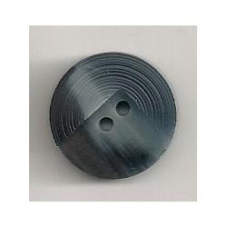 Blå knap 2-huls, 18mm
