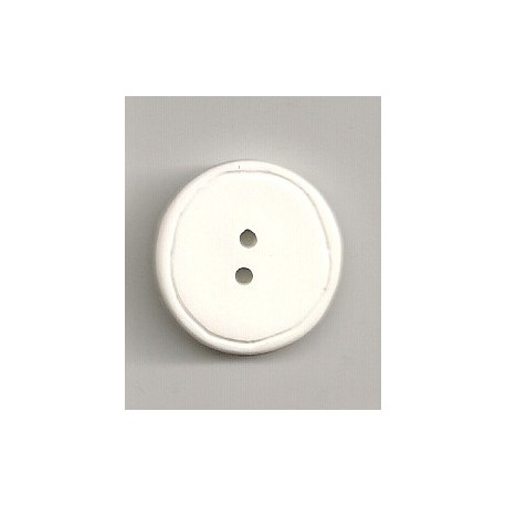 Hvid knap 22mm