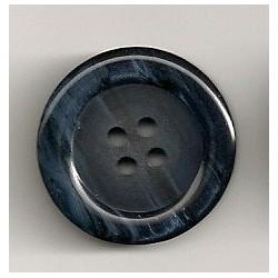 Knap blå meleret 4-huls 23mm
