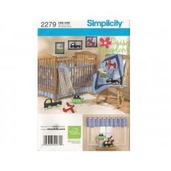 Babytæppe og sengerand Snitmønster