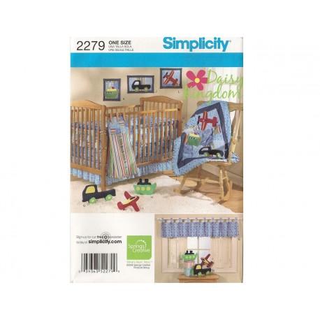 Babytæppe og sengerand simplicity snitmønster 2279