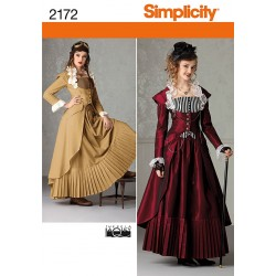 Nederdel, frakke og corsage Kostume snitmønster