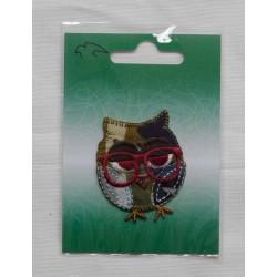 Strygemærke camouflage ugle m/røde briller