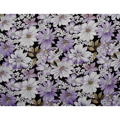 jersey m/ Blomster 150 cm bred