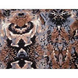 Brun/grå stræk stof, 145cm bred