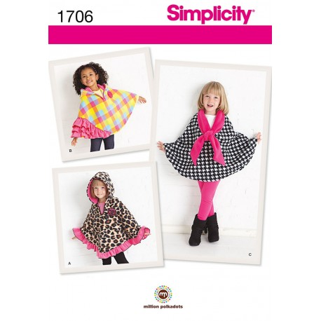 Slag til piger Simplicity Snitmønstre 1706