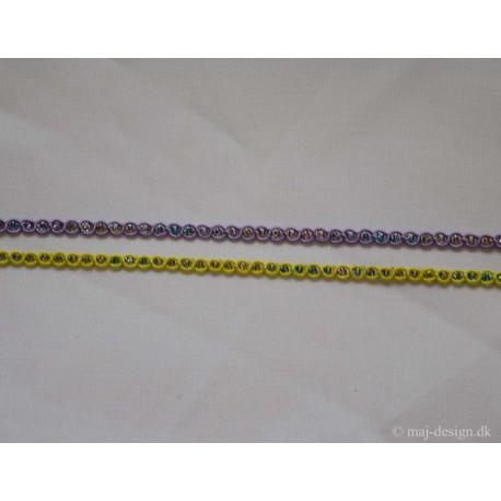 Agramanbånd 6mm bred, multifarvet