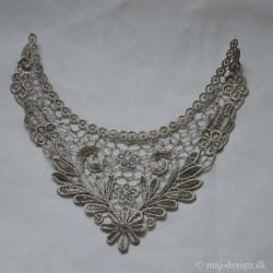 indsats til bluse, sølvfarvet