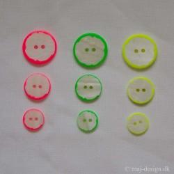 Perlemors knap neonfarve