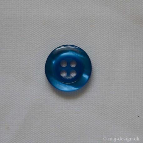 Klar Blå knap 22mm