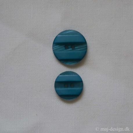 Lys blå knap 2-hul