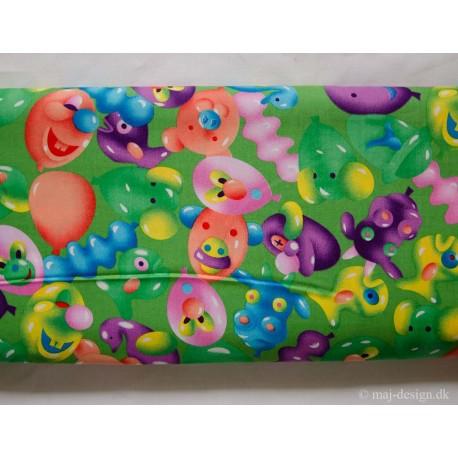 Limefarvet bomuld m/balloner