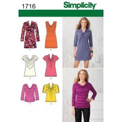 Tunika og bluse Simplicity Snitmønster