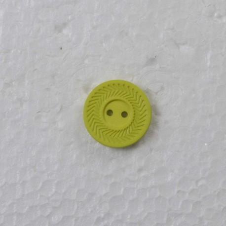 Limegrøn m/kant 2-hul knap 23mm