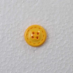 Gul knap m/Kant 4-hul 25mm
