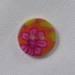 Perlemor knap, 15mm Blomst