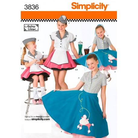snitmønstre Kostume sevitrice pige