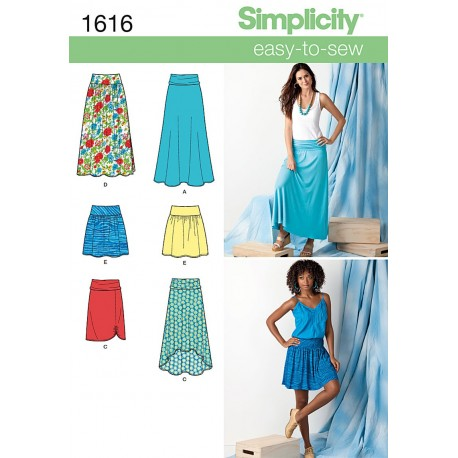 Snitmønstre Nederdel Simplicity