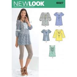 Bluse/Tunika 5 varianter Snitmønster New look