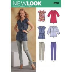 Bluse/tunika og bukser Snitmønster